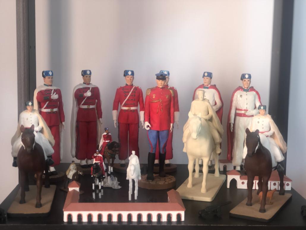 Figurines sculptées et peintes par Modeldesign